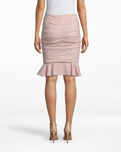 Ruched Ruffle Skirt