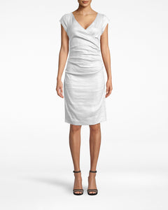Cap Sleeve Tuck Dress