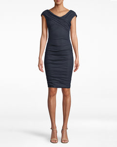Cotton V-Neck Dress