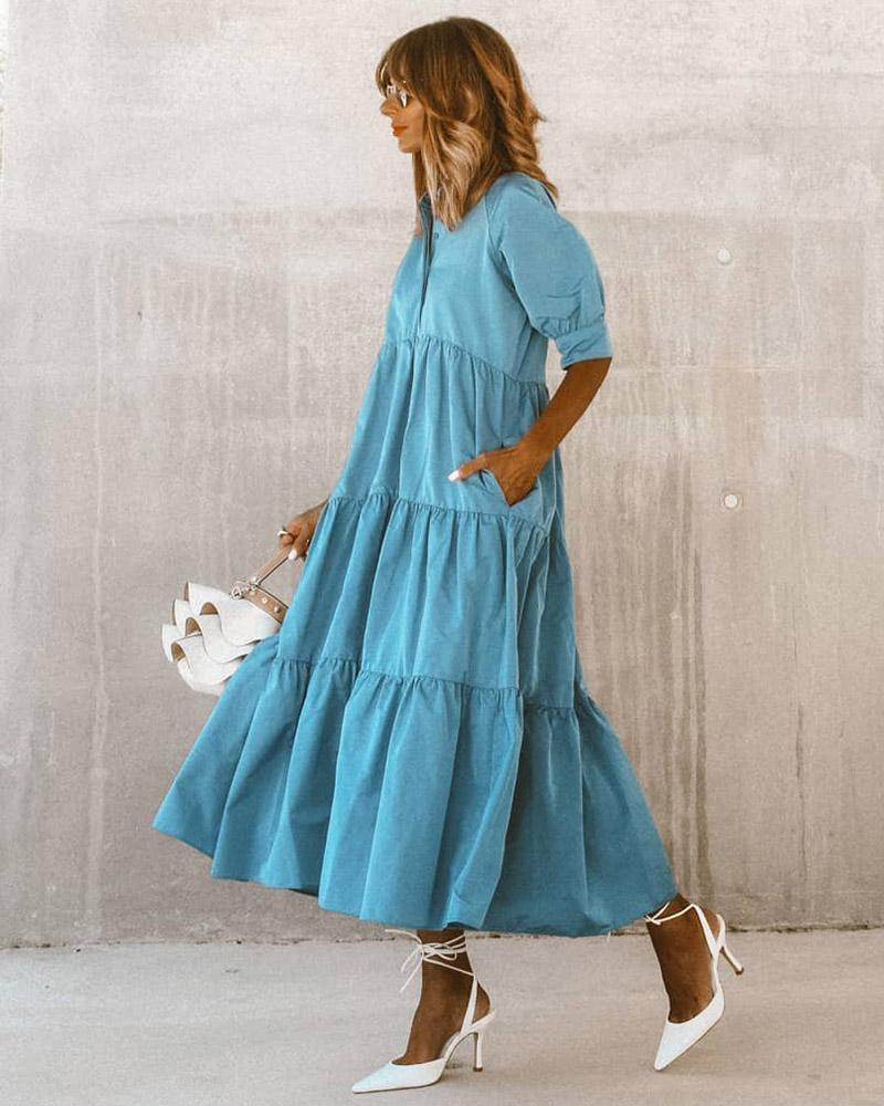 Fashion Long Sleeve Maxi Dress