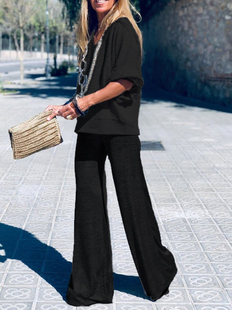 Casual Loose Comfortable Soft Top Trouser Suit