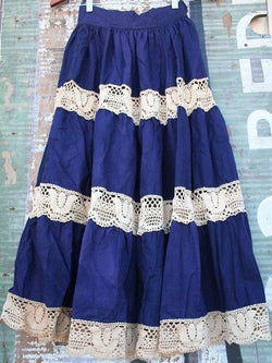 Casual Lace Vintage Loose Skirt