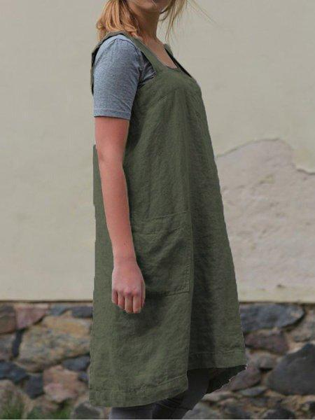 Casual Shift Sleeveless Asymmetric Dress