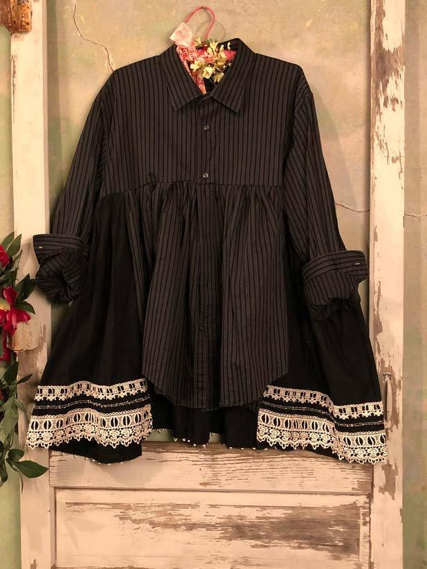Vintage Striped Vintage Paneled Outerwear