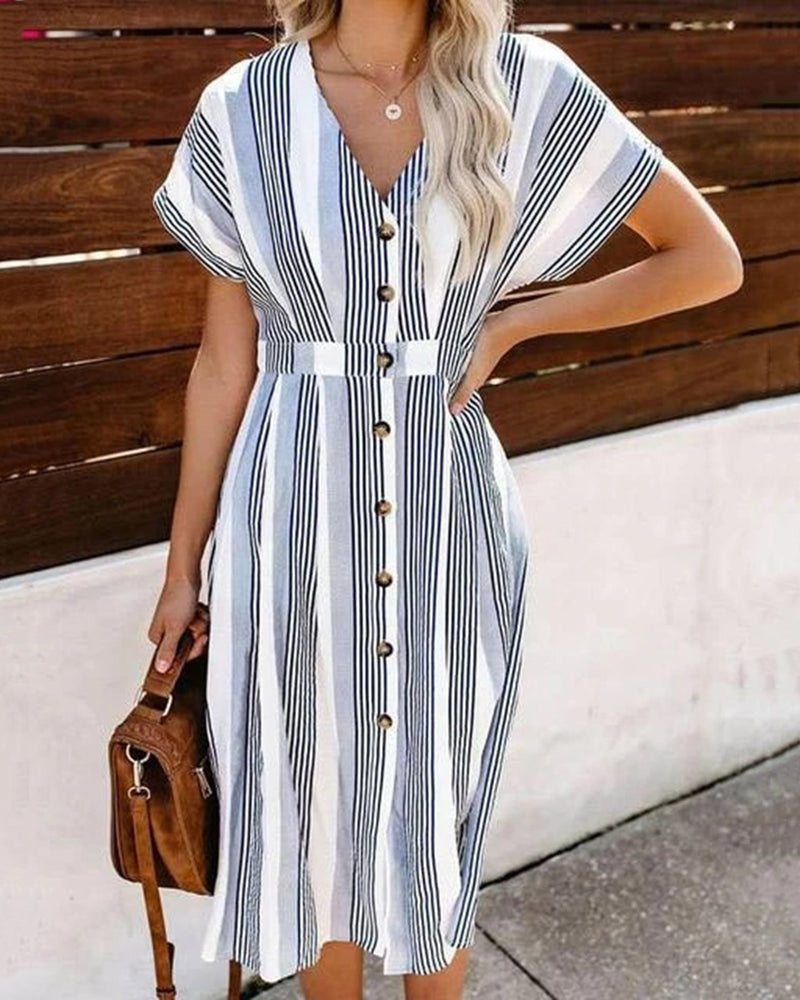 Boho Striped Casual Dresses