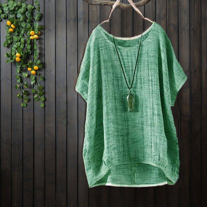 Women'S  Summer Daily Casual Short Sleeve Bamboo Fiber Summer T-Shirt