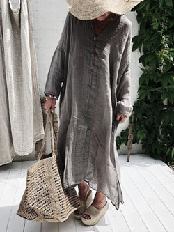 Gray Long Sleeve Vintage Dresses