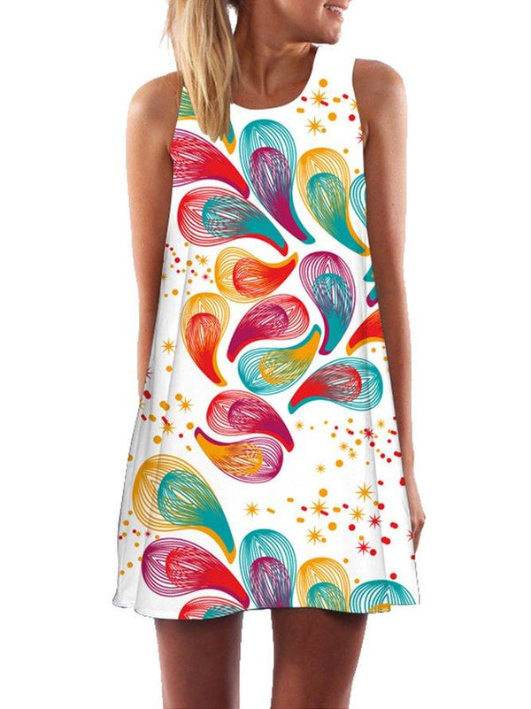 Print Casual Sleeveless Dress