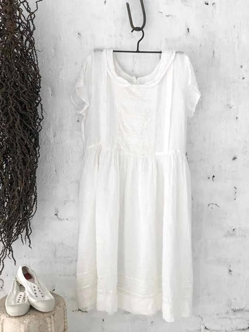 Cotton and Linen Casual Dress