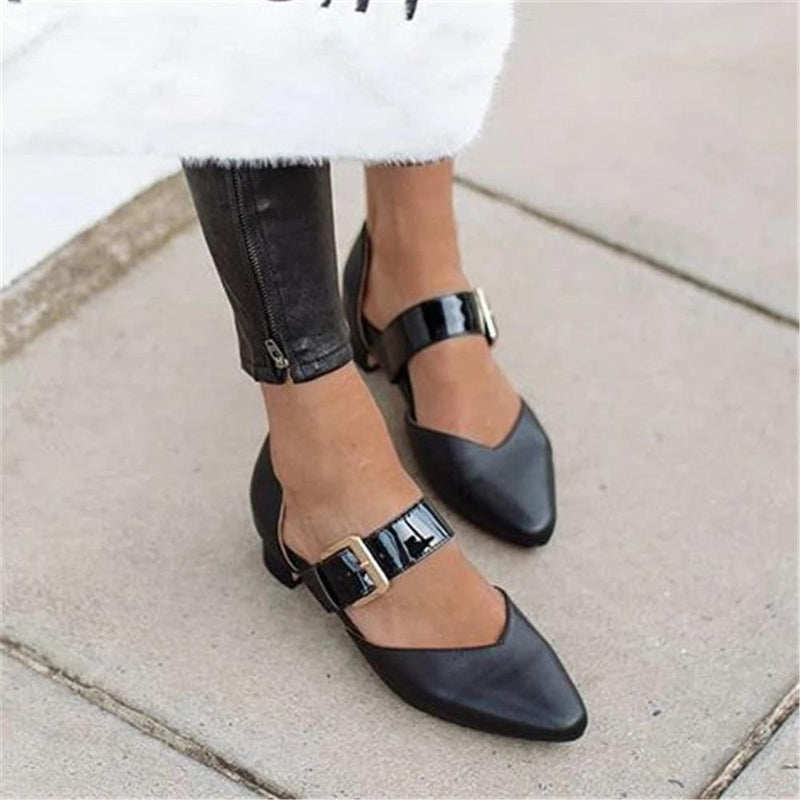 Vivisboho Women's Simple Buckle Casual High Heels