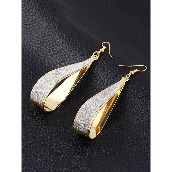 Scrub Water Vintage Punk Exaggeration Long Drop Earrings