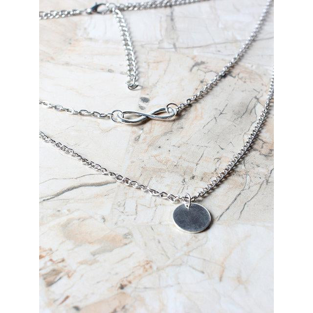 Womens Alloy Double Layers Necklaces