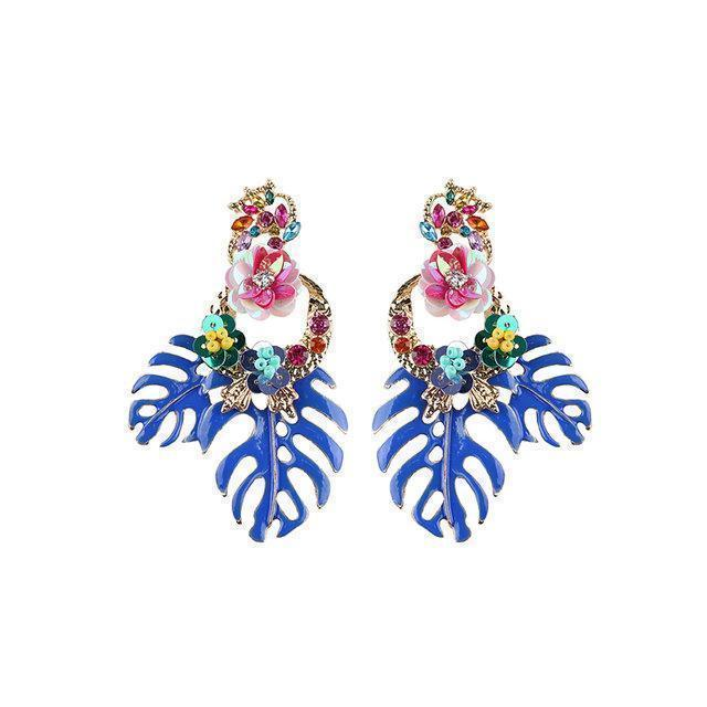 Womens Trendy Alloy Leaf Earrings