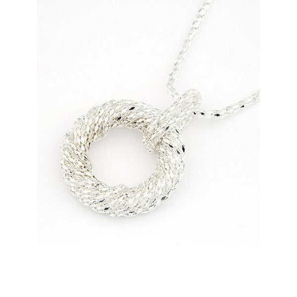 Womens Round Alloy Necklaces