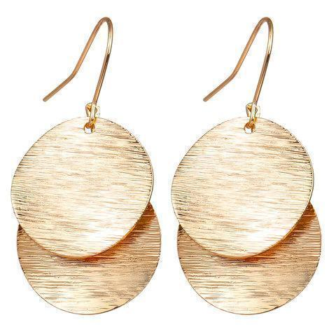 Creative Fashion Two-Layer Alloy Sequins Earrings