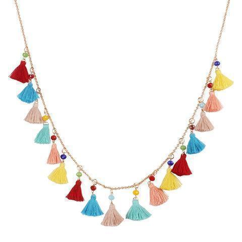 Ethnic Tassel Bohemian Ladies Boho Necklace