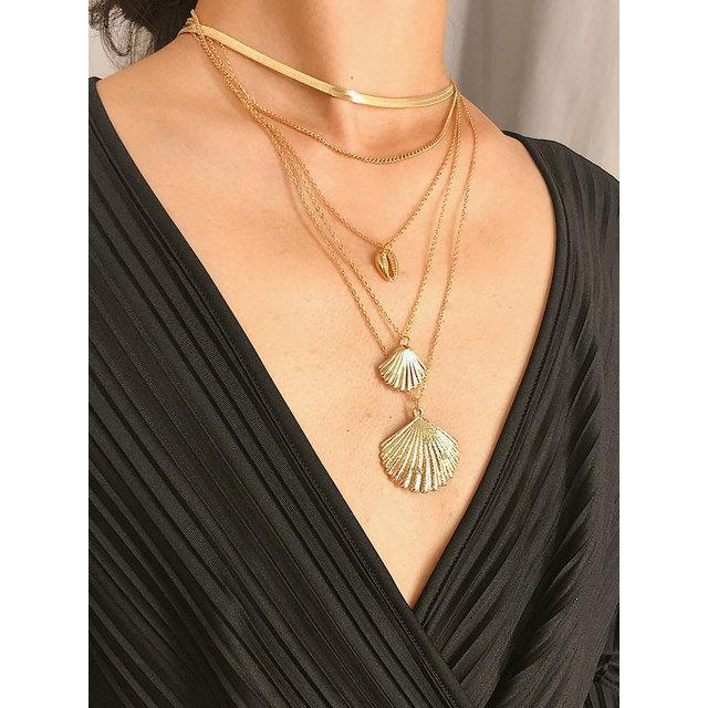 Women Multi-layer Shell Necklaces