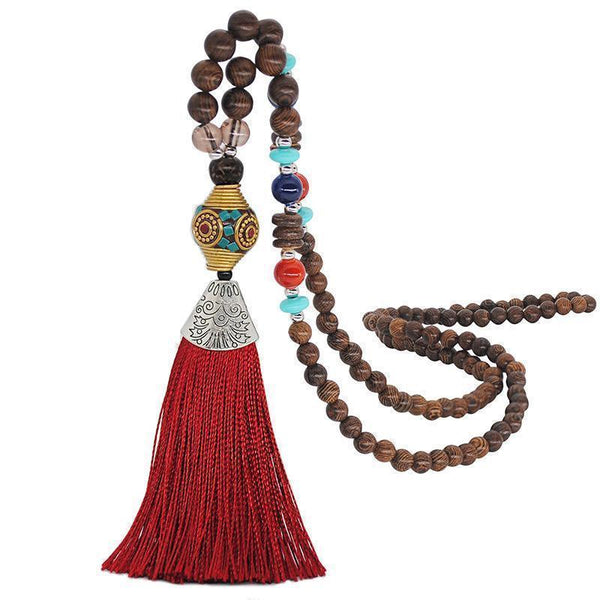 Vintage Bohemian Tassel Long Necklace