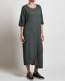 Casual Solid Half Sleeve T-shirt Dress