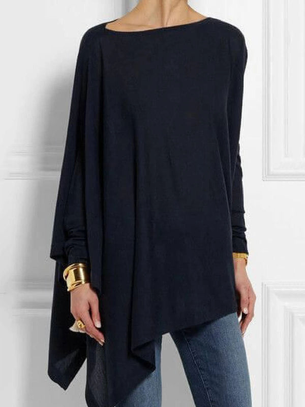 Round Neck Casual Irregular Top