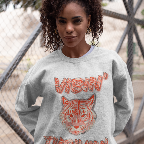 Vibin' Thrivin' Tiger Sweatshirt