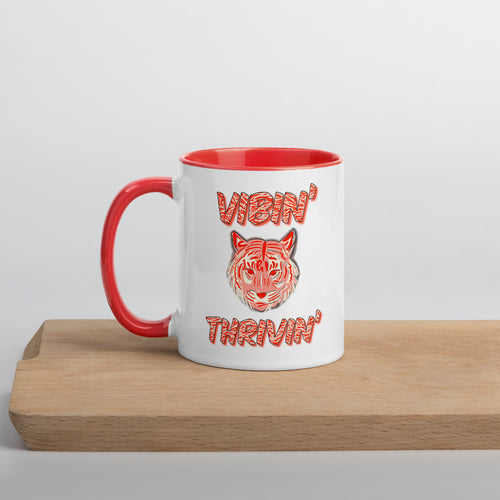 Vibin' Thrivin' Tiger Coloured Mug