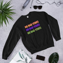 Load image into Gallery viewer, No Bad Vibes Sweatshirt