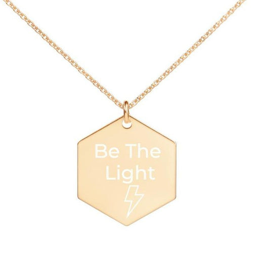 Be The Light Engraved Necklace