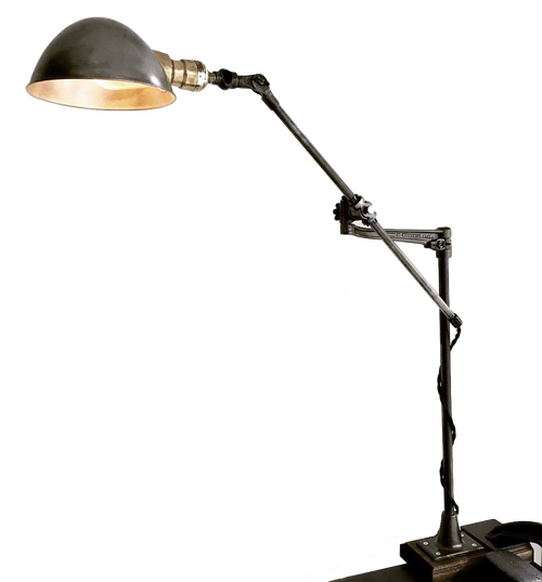Rare Restored -O.C. White Articulating Lamp (Marked Patent 1893)