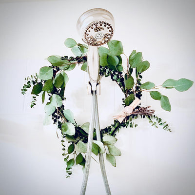 Hand-wrapped Fresh Eucalyptus Shower Wreath Making