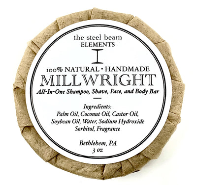 Millwright All-in-One Shampoo, Shave, Face & Body Bar