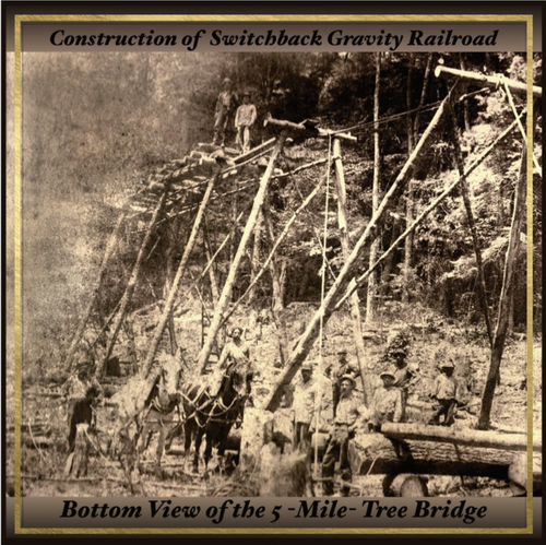 Construction of the Switchback Gravity Railroad Card