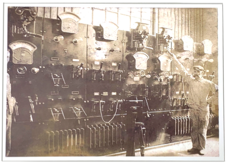 Switchboard which handled all power for the Bethlehem Steel Company Card