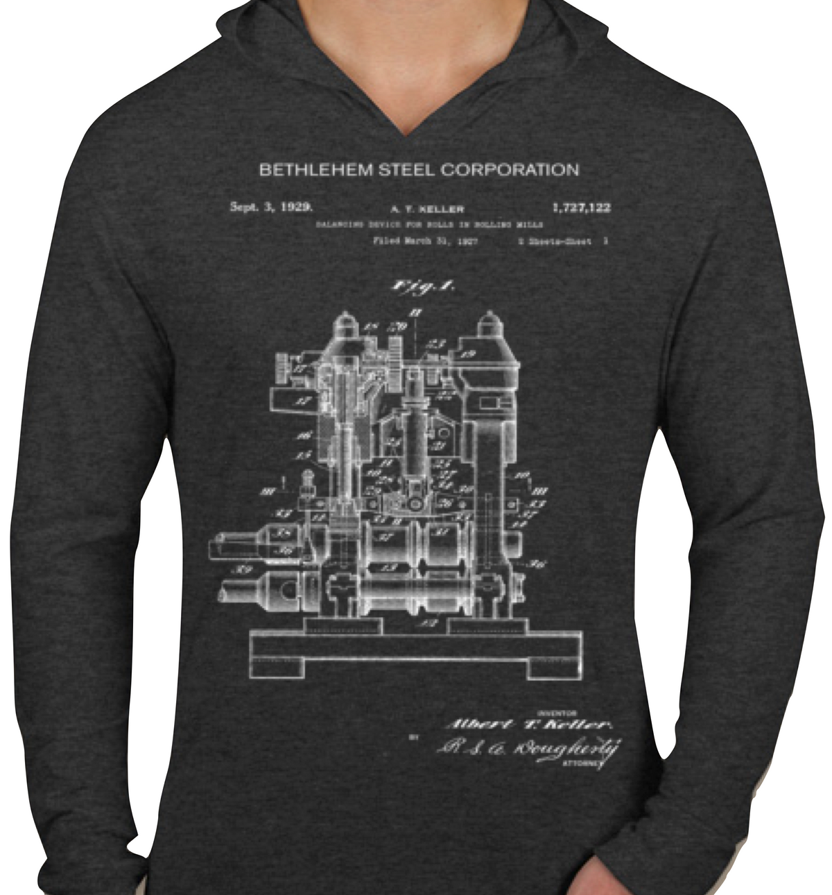 Bethlehem Steel Rolling Mill mechanical patent T-Shirt