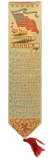 The Centennial International Exhibition of 1876 Star Spangled Banner Woven Silk Bookmark