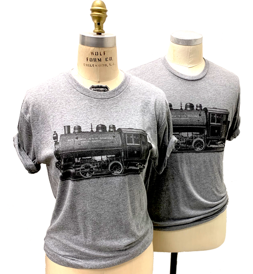 Steel plate engraved Bethlehem Steel Company train printed on T's