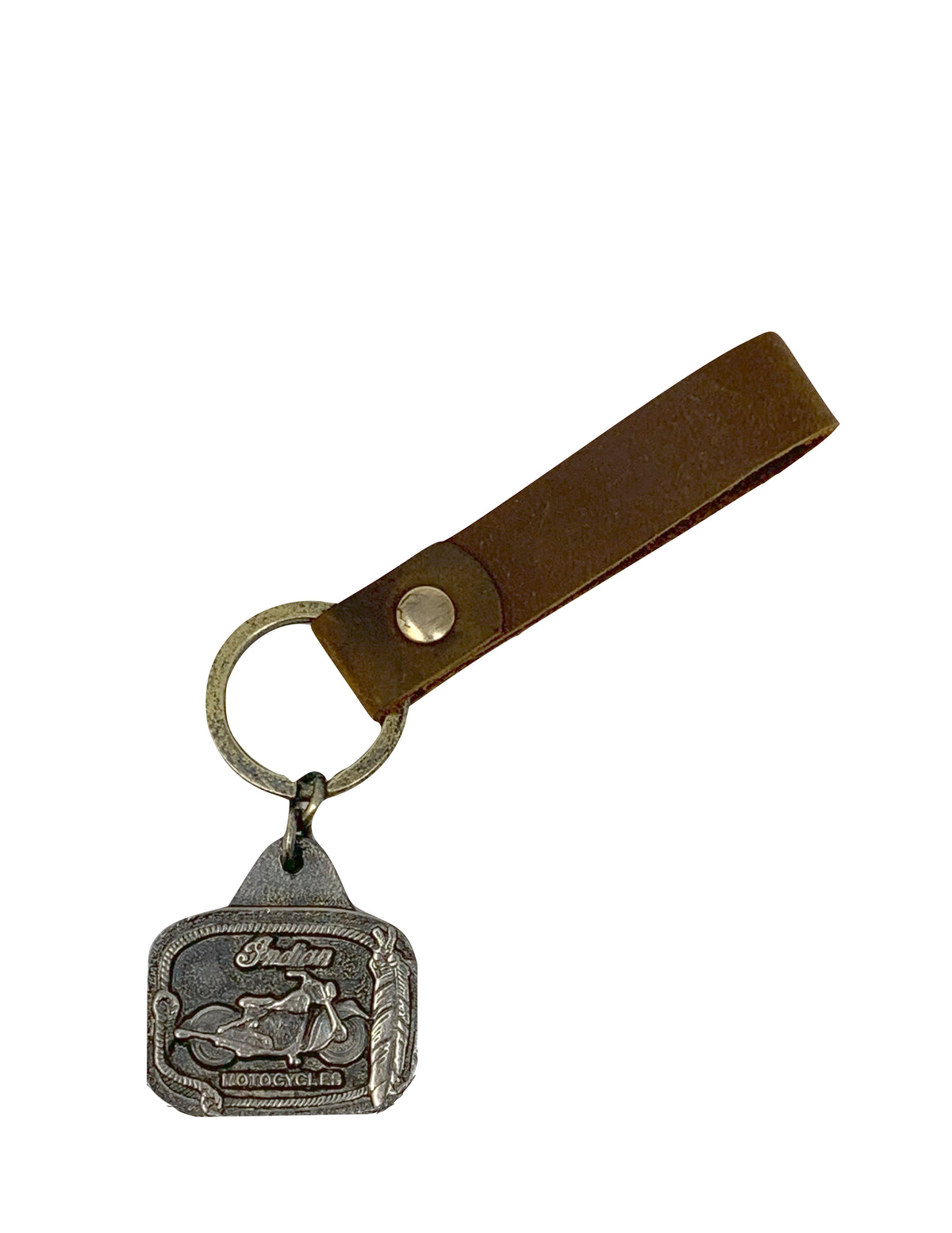 Vintage Indian Motorcycle Leather Key Fob