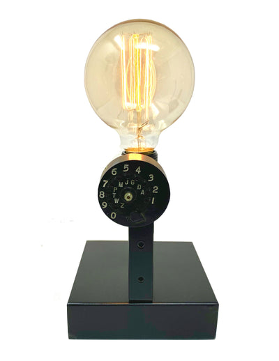 Vintage 1920's, 1960's Lineman's Tester Phone Dial Touch Lamp
