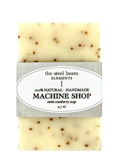 Machine Shop mint cranberry soap