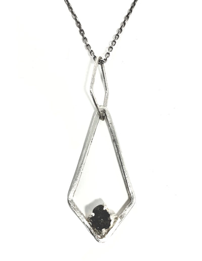 Handmade Rough Diamond sterling necklace