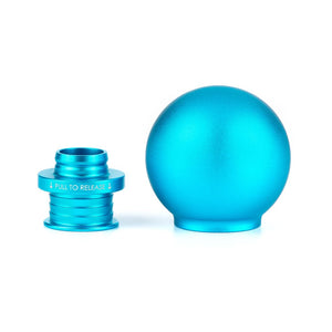 POCO Low-Profile Shift Knob in Satin Teal Anodized Finish