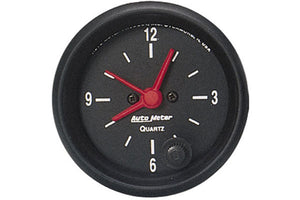 "AutoMeter - 2-1/16"" Clock - 12-Hour Z-SERIES"