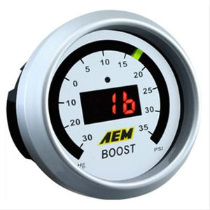 AEM - 52mm Boost Digital Gauge -30-35psi