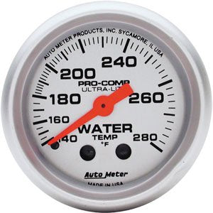 "AutoMeter - 2-1/16"" Water Temperature - ULTRA-LITE  140-280 Deg."