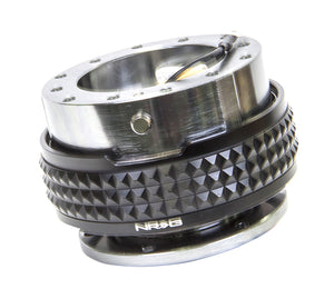NRG - Quick Release PYRAMID GEN 2.1 (Gun Metal Body/Black Ring)