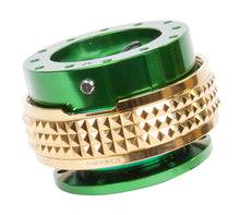 Load image into Gallery viewer, NRG - Quick Release PYRAMID GEN 2.1 (Green Body/Chrome Gold Ring)