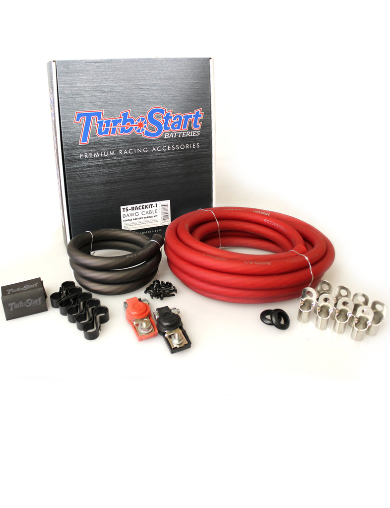 TurboStart - 1/0 AWG Cable Single Battery Race Kit