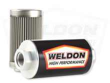 Load image into Gallery viewer, Weldon Racing - -10 ORB 100 Micron Stainless Filter Assembly