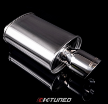 Load image into Gallery viewer, K-Tuned - Universal Muffler - Polished / Short (Offset Inlet / Center Outlet)