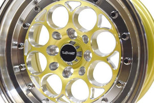 VMS Racing - Revolver Wheel 15x8 4x100/ 4x114.3 20 Offset Gold Or Black Milling Finish